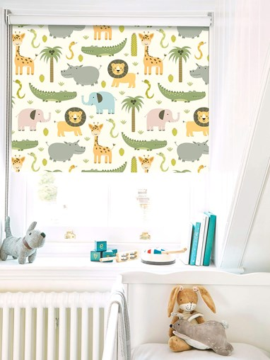 At The Zoo Blackout Roller Blind