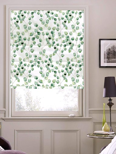 Climbers Natural Floral Roman Blind