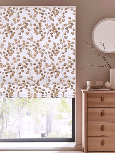 Climbers Neutral Floral Roman Blind