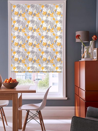 Fallen Leaves Floral Roman Blind