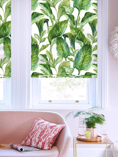 Jungle Leaves Day Floral Roman Blind