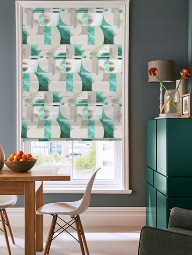 Connect Teal Roman Blind