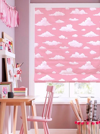 Candy Floss Clouds Roman Blind