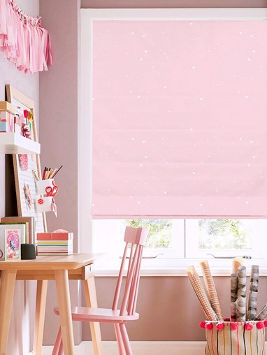 Starry Night Candy Roman Blind