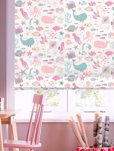 Under The Sea Candy Roman Blind