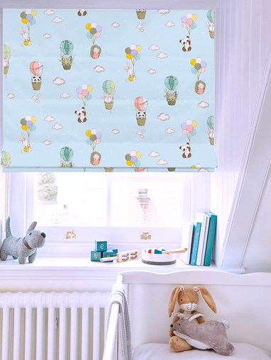Up Up and Away Roman Blind