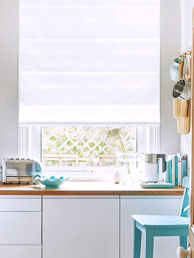 Smooth White Roman Blind