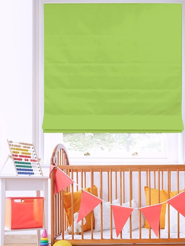 Stem Green Roman Blind