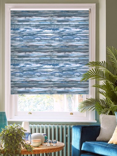 Aquarelle Stripe Denim Roller Blind