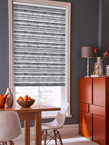 Shibori Stripe Grey Roller Blind