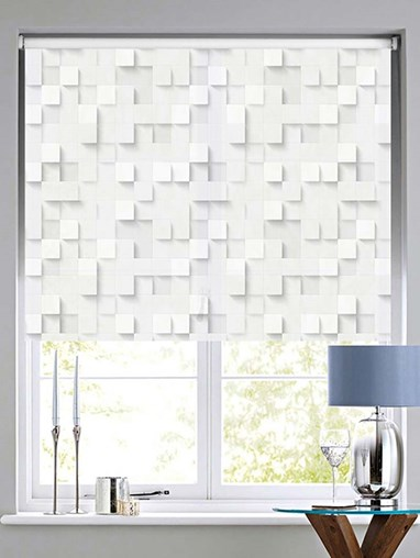 Dimension Patterned Daylight Electric Roller Blind