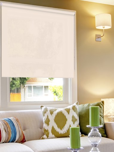 Dusky Cream 1% Openness Sunscreen Roller Blind