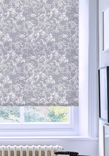Arla Grey Electric Roller Blind by Lorna Syson