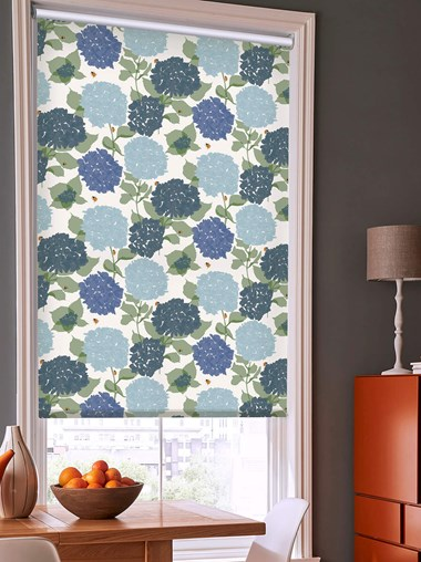 Hydrangea Electric Roller Blind by Lorna Syson