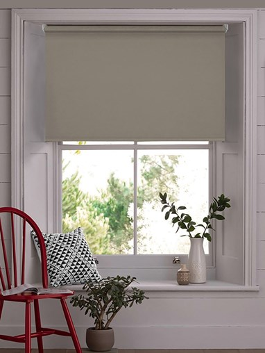 Taupe Blackout Electric Roller Blind