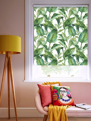 Jungle Leaves Day Blackout Electric Roller Blind