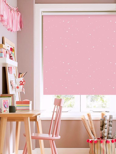 Starry Night Candy Patterned Blackout Electric Roller Blind