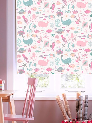 Under The Sea Candy Blackout Electric Roller Blind