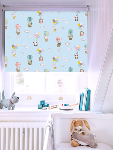 Up Up and Away Blackout Electric Roller Blind