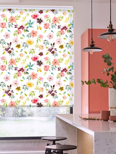 Wildflower Dawn Patterned Daylight Electric Roller Blind