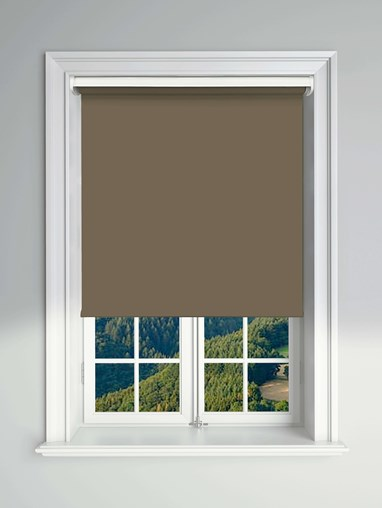 Essential Milk Chocolate Electric Blackout Roller Blind