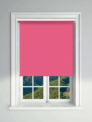 Essential Shock Pink Electric Blackout Roller Blind
