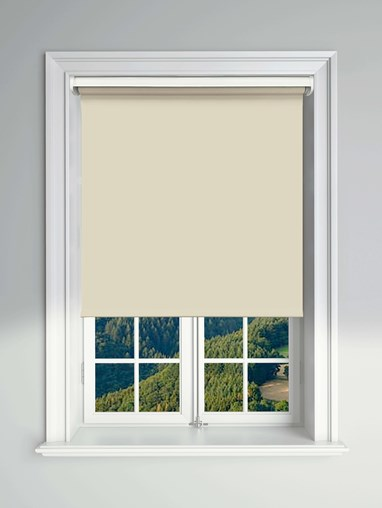 Essential Stone Grey Electric Blackout Roller Blind