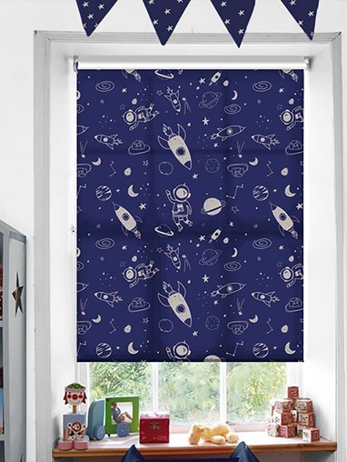 Galaxy Patterned Daylight Electric Roller Blind