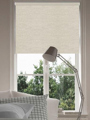 Grey Linen Blackout Electric Roller Blind