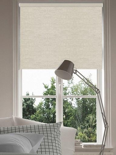 Grey Linen Blackout Thermal Roller Blind