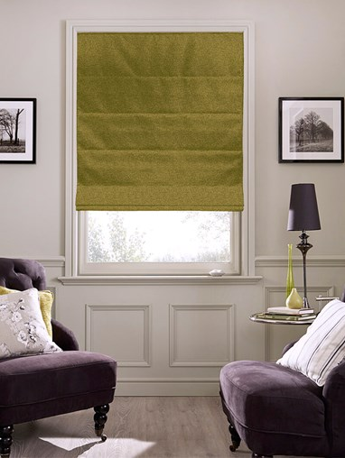 Hampton Olive Blackout Roman Blind