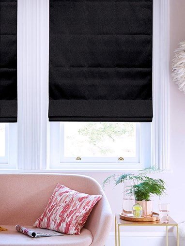 Hampton Onyx Blackout Roman Blind