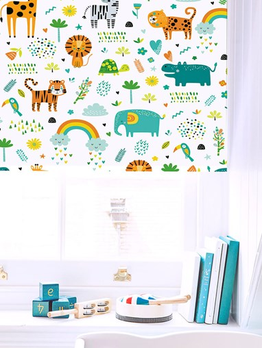 Happy Jungle Sky Blackout Roller Blind