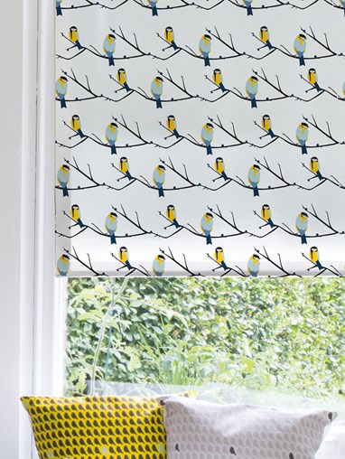 Juneberry and Bird Roller Blind by Lorna Syson