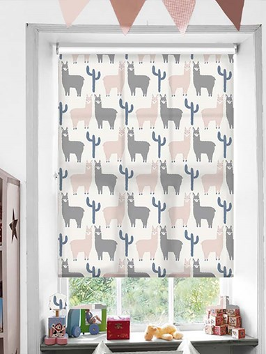 Llamas Patterned Daylight Electric Roller Blind