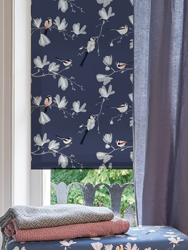 Long Tailed Tit Roller Blind by Lorna Syson