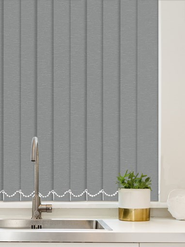 Luxe Steel Wool Waterproof 89mm Vertical Blind Replacement Slats
