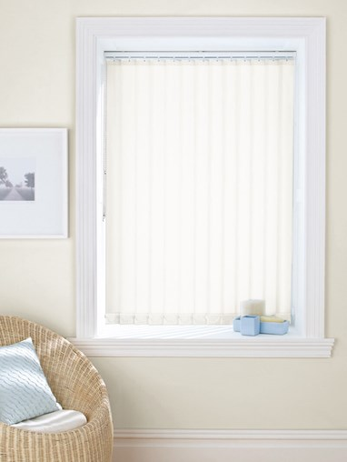 Milky White 89mm Daylight Vertical Blind