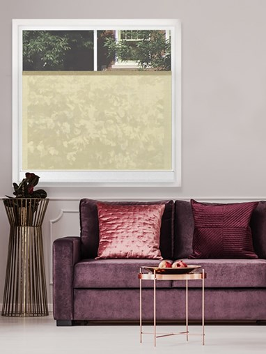 Sheer Cream 176E Bottom Up Roller Blind
