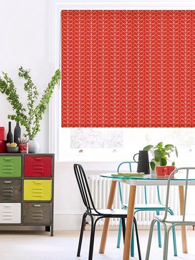 Orla Kiely Linear Stem Tomato Soft Fabric Roller Blind
