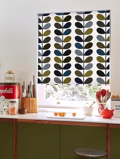 Orla Kiely Multi Stem Moss Soft Fabric Roller Blind
