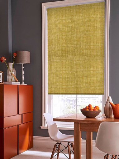 Orla Kiely Scribble Olive Soft Fabric Roller Blind