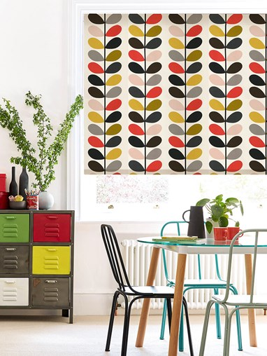 Orla Kiely Multi Stem Tomato Electric Roller Blind