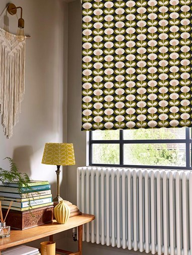 Orla Kiely Oval Flower Seagrass Electric Roller Blind