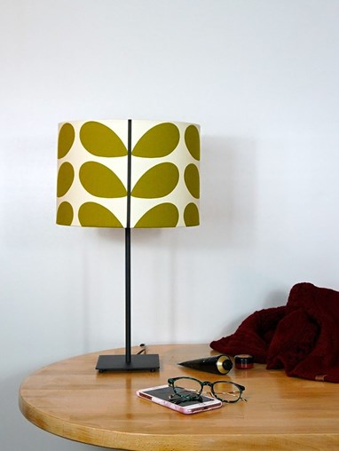 Orla Kiely Two Colour Stem Olive Lampshade