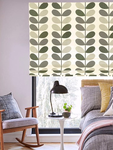 Orla Kiely Multi Stem Warm Grey Roman Blind