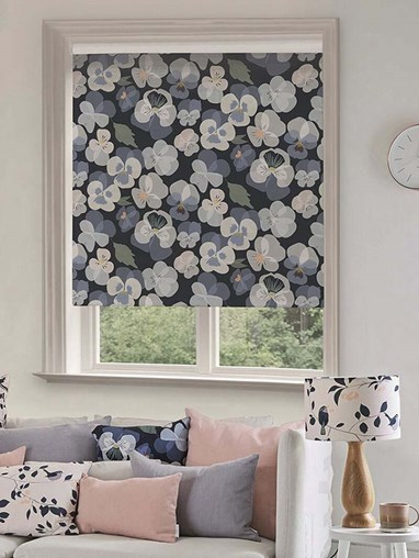 Pansy Electric Roller Blind by Lorna Syson