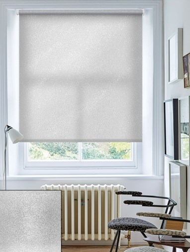 Pearl Silver Daylight Electric Roller Blind