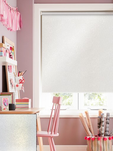 Pearl White Blackout Electric Roller Blind