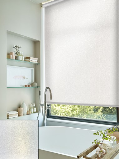 Pearl White Daylight Electric Roller Blind